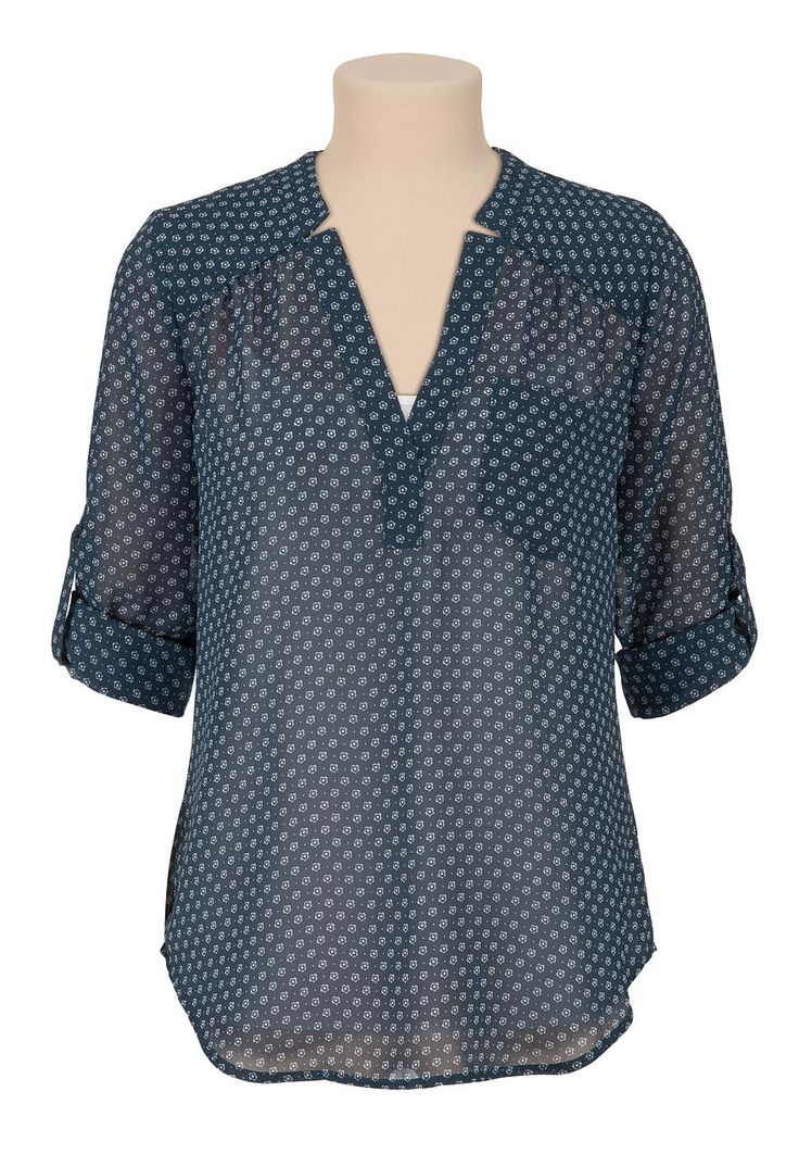Flower print chiffon blouse - maurices.com