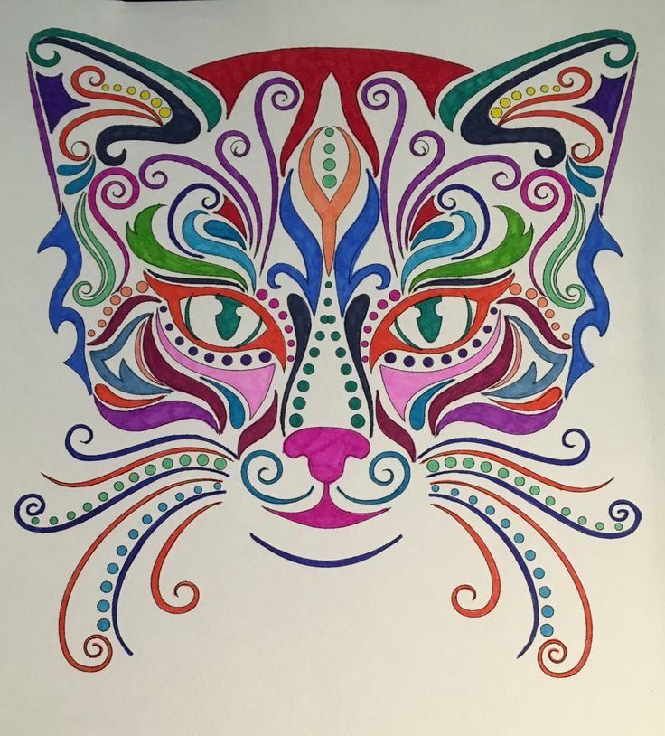 Bd Illustration Quot Cats Coloring For Mindfulness Quot Found At