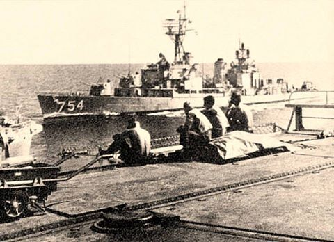 2/6/69 USS Frank E Evans from HMAS Melbourne. Possibly the last photo