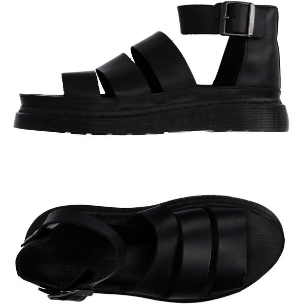 Dr. Martens Sandals (2.010.730 VND) ❤ liked on Polyvore featuring shoes, sandals, clothes - shoes, sapatos, shoes - sandals, black, flat sandals, leather buckle sandals, rubber sole sandals and dr martens sandals