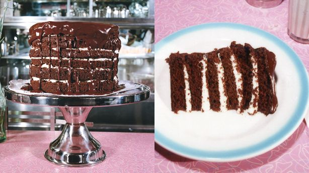 Mile-High Chocolate Cake with Vanilla Buttercream. Making a version of ...