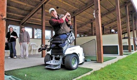 Who's planning a trip to Tacoma, Washington to hit the links?  The only fully accessible golf course in the U.S. for disabled veterans.