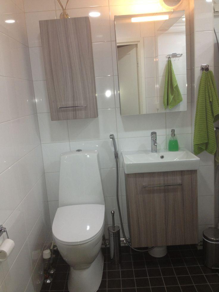 Pieni kylpyhuone, kalusteet Danisan