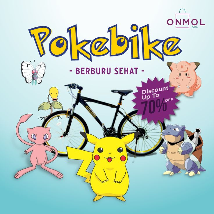 Bersepeda sambil nangkap Pokemon? Seru juga tuh.. Yuk, kelengkapannya disini.. #OnMolID #onlineshop #sepeda #olahraga #pokemon