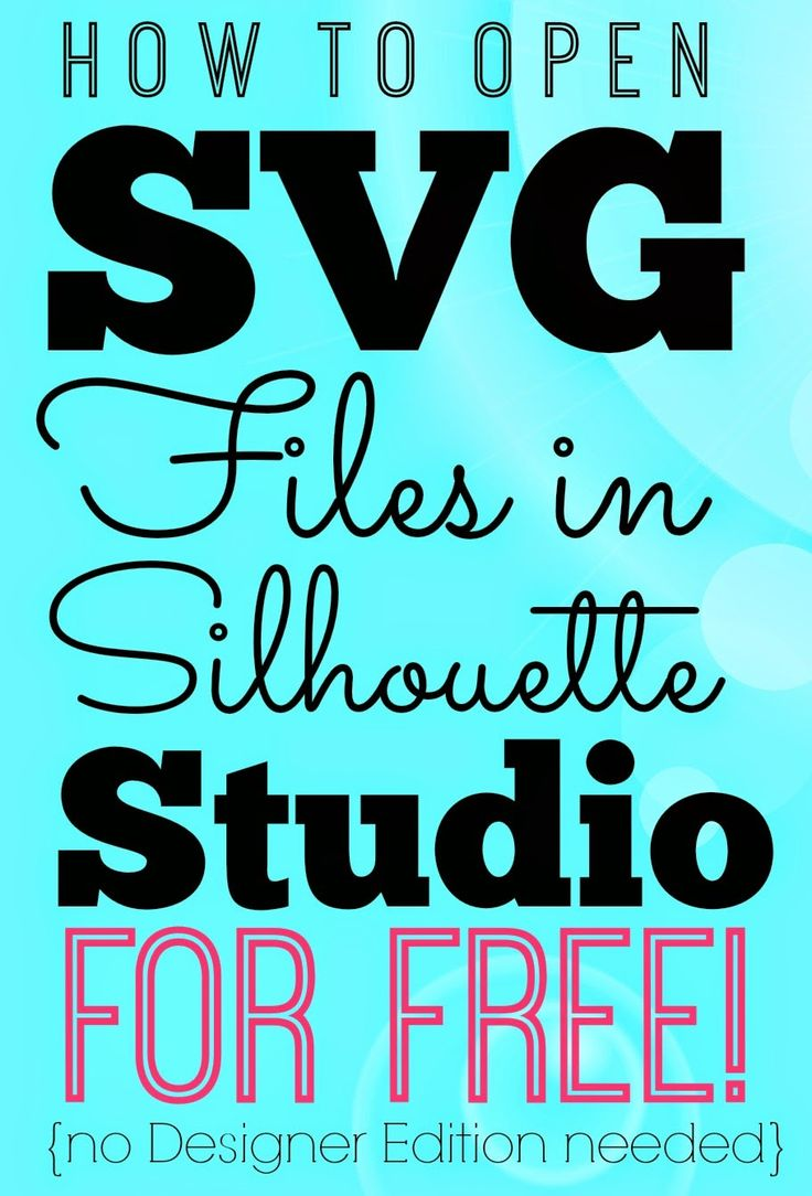 So you got yourself an SVG file and you want to open it in Silhouette Studio. If you have...