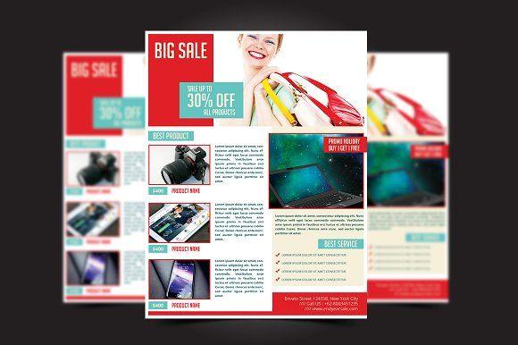 Big Sale Flyer Template by meisuseno on @creativemarket