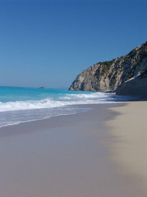 The breathtaking Egremni beach in Lefkada, Greece