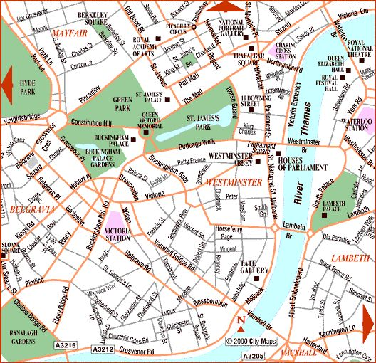 westminster on the map