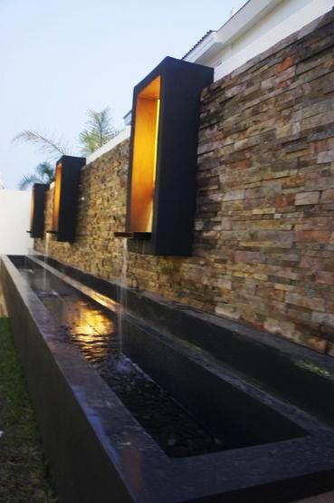 Casa en valle real por Creato Arquitectos #terrazas  #decoracion  #fuente  #muros