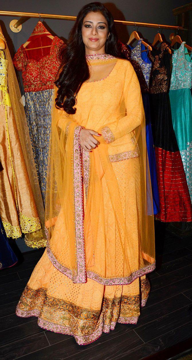 Tabu at a designer store opening in Dubai. #Bollywood #Fashion #Style #Beauty #Hot #Desi