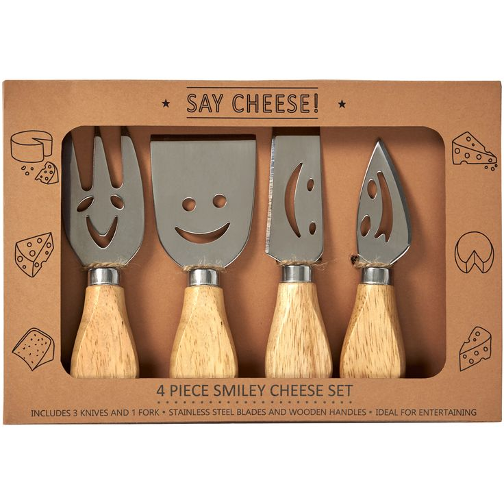 For all you cheese lovers, just arrived set of 4 smiley knives for your dining table @wwwapplenpip.co.uk £10.00