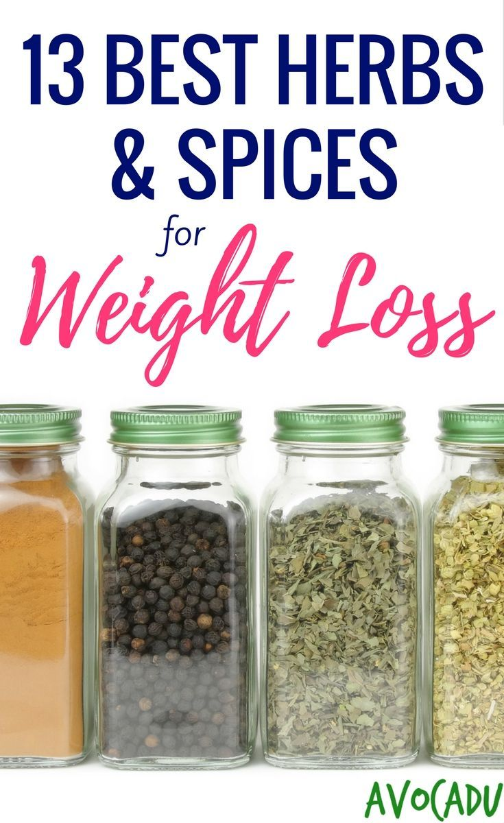 13 best herbs and spices to add to your diet for weight loss!  Lose weight fast with these healthy foods! http://avocadu.com/13-best-herbs-spices-weight-loss/