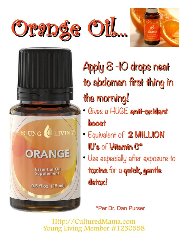 Orange Oil - If Interested Check These Oils Out At www.youngliving.com (My Member# Is 1691468 If You See Something You'd Like To Purchase)