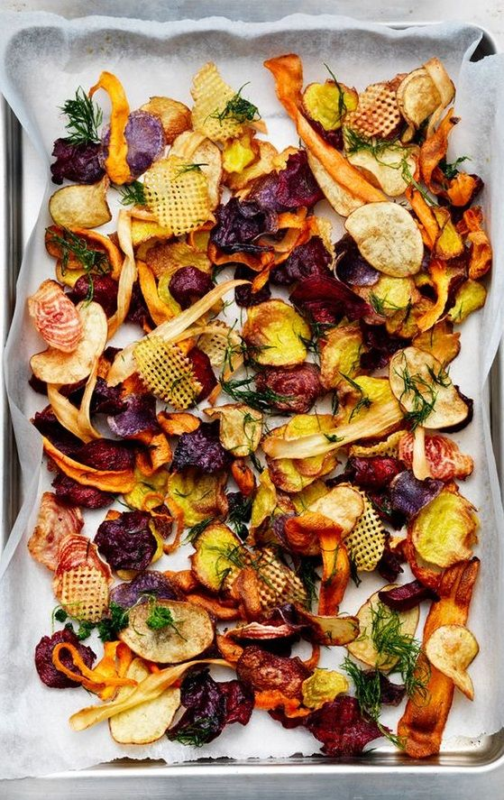 VEGETABLE CHIPS [lundlund] [plating inspiration, image only]