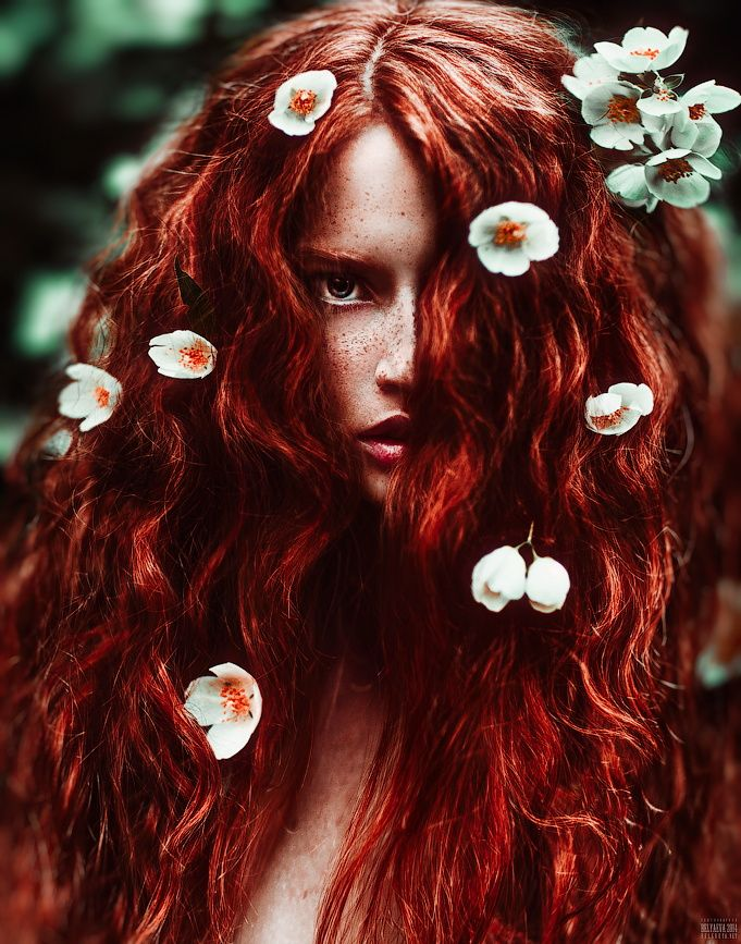"""You've got to wear some flowers in your hair"" ...  Beautiful redhead beauty by Светлана  Беляева on 500px"