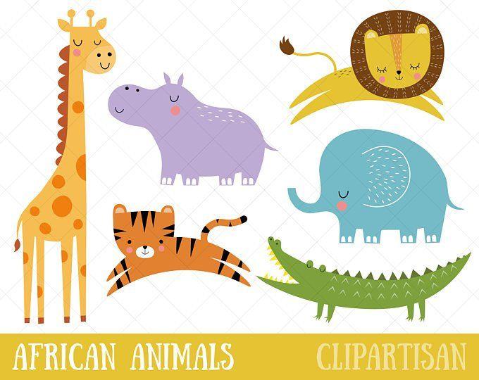 Safari Baby Animals Clipart Jungle Animals Clipart Zoo Animals Clipart Safari Baby Animals Animals Clipart Jungle Animals Clipart