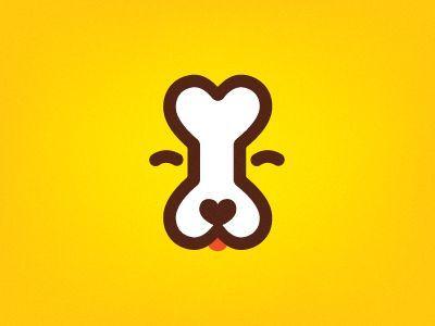 more brilliant use of negative space: Dog bone logo by Dima Je (via Dribbble)