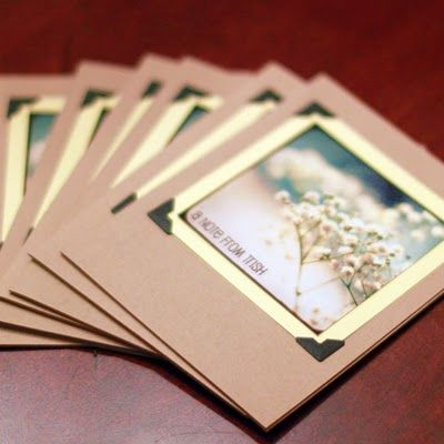 Great idea for homemade photo cards