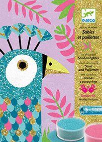 Glittertyö - Dazzling Birds Luo kauniita ja hohtavia lintuja, hiekan ja glitterin avulla!