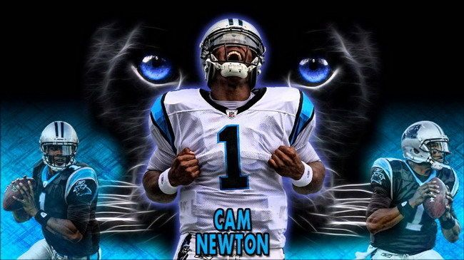 136 Cam Newton Cameron Jerrell American Football Nfl 25 X14 Poster Nfl Football Wallpaper Cam Newton Wallpaper Carolina Panthers