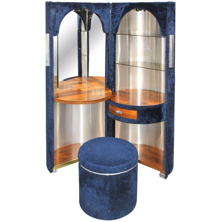 1stdibs 1960s Foldable Vanity Table And Stool Mid