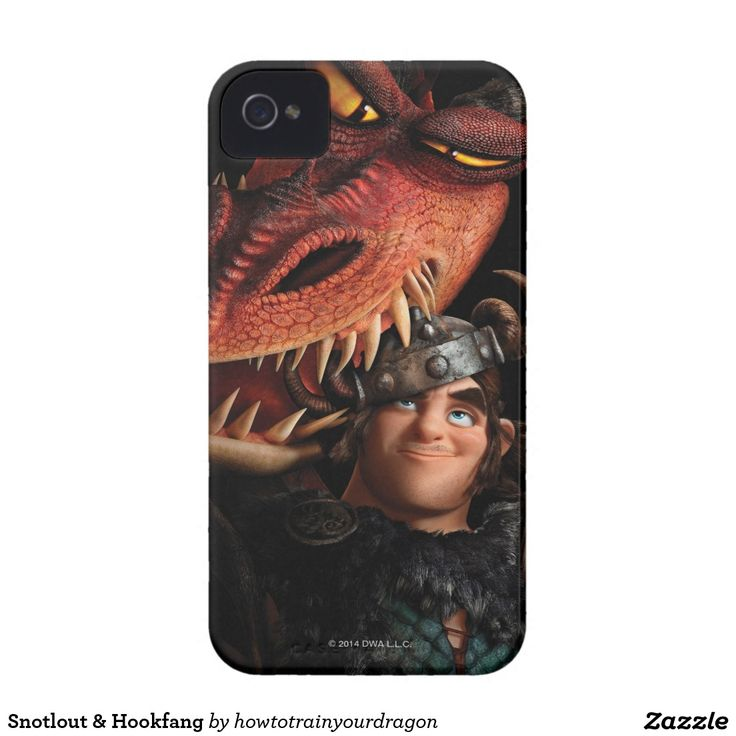 How To Train Your Dragon - Snotlout & Hookfang iPhone 4 Cover #carcasas #cases