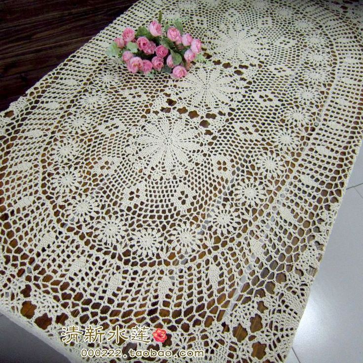 Handmade hook needle crochet dining table cloth tablecloth rustic cutout 100% cotton gremial decoration beige oval-inTable Cloth from Home & Garden on Aliexpress.com | Alibaba Group