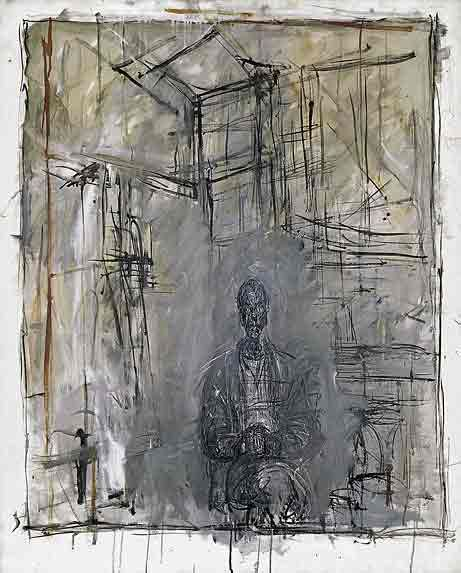 Giacometti. Widely known as a sculptor, but his drawings and paintings are exquisite.