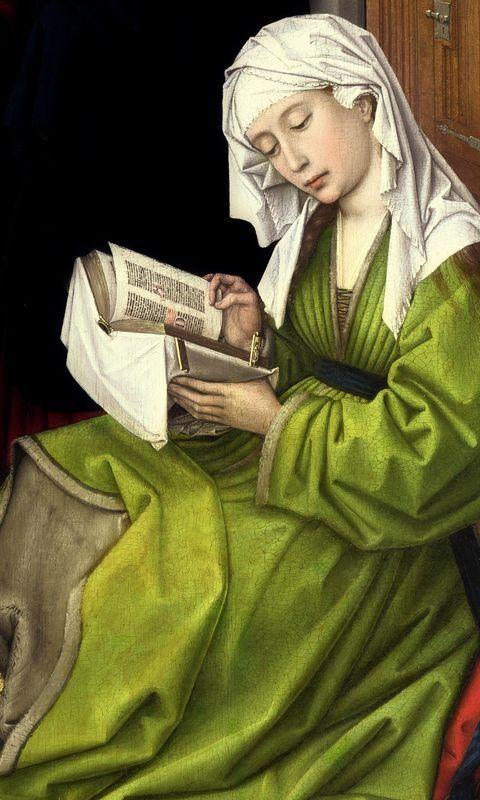 Sacra Conversazione (v. 1445) VAN DER WEYDEN Rogier - Flemish (Doornik 1400 - 1464) / Magdalene Reading, before 1438