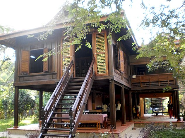 Indochina Modern Traditional Khmer Country Home At Roluos