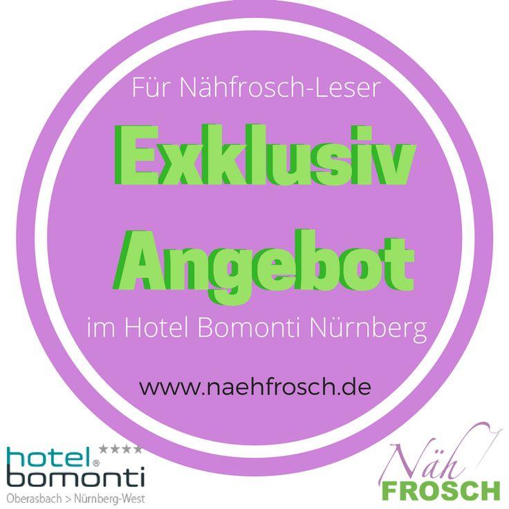 Heute habe ich etwas ganz tolles für ALLE von euch lieben Nähfrosch-Lesern!!! Das Hotel Bomonti Oberasbach (Nürnberg) hat 3 unglaublich tolle Pakete für euch geschnürt, die ihr ab heute bis 17.10.16 buchen könnt.  Die Arrangements stehen zu verschiedenen Zeiträumen wie z.B. über Silvester bis hin ins Frühjahr 2017 zur Verfügung und sind vollgestopft mit tollen Extras! (Playmobil Funpark, Erlebnisbad, Christkindlesmarkt,...)  Am besten hüpft ihr gleich im Blog vorbei und lest die Details.