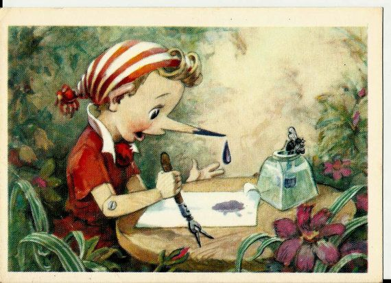 Postcard - Pinocchio Buratino - Vintage Russian USSR old card 1967 by LucyMarket, $5.50
