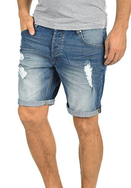 de7abc21424e !Solid Toy Herren Jeans Shorts Kurze Denim Hose Mit Destroyed-Optik Aus  Stretch-Material Slim Fit  - Sommer Hosen Trends sommer…