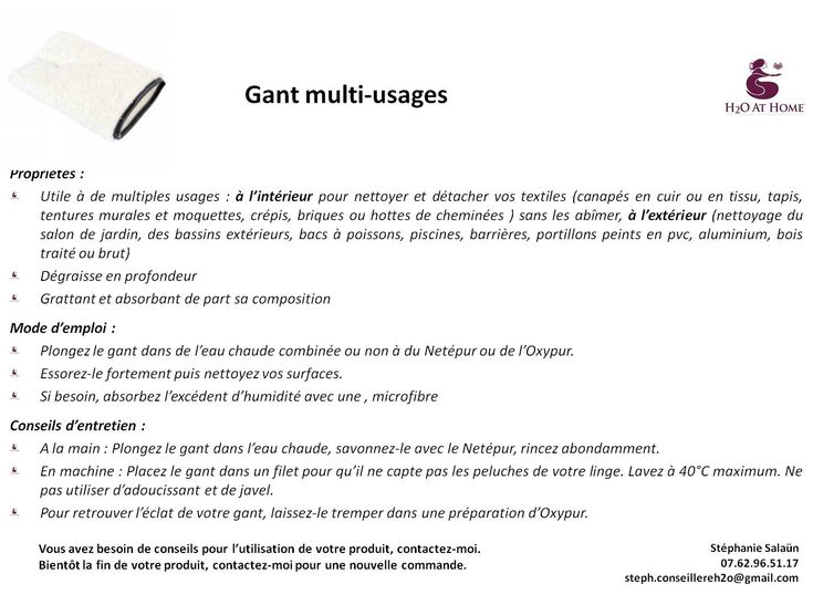 Gant multi-usages H2O Pinterest - nettoyer un crepis exterieur
