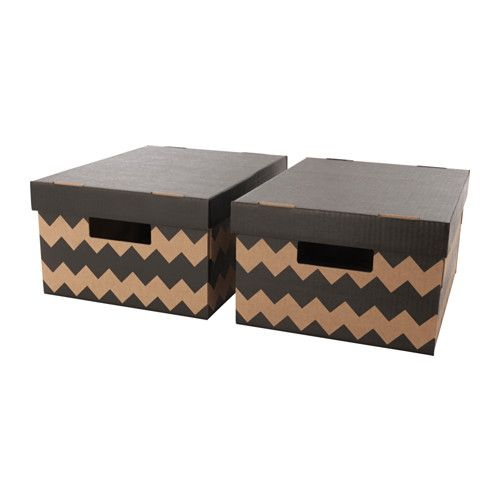 PINGLA Box with lid IKEA Suitable for storing or moving books and other heavy items, since the bottom is reinforced.
