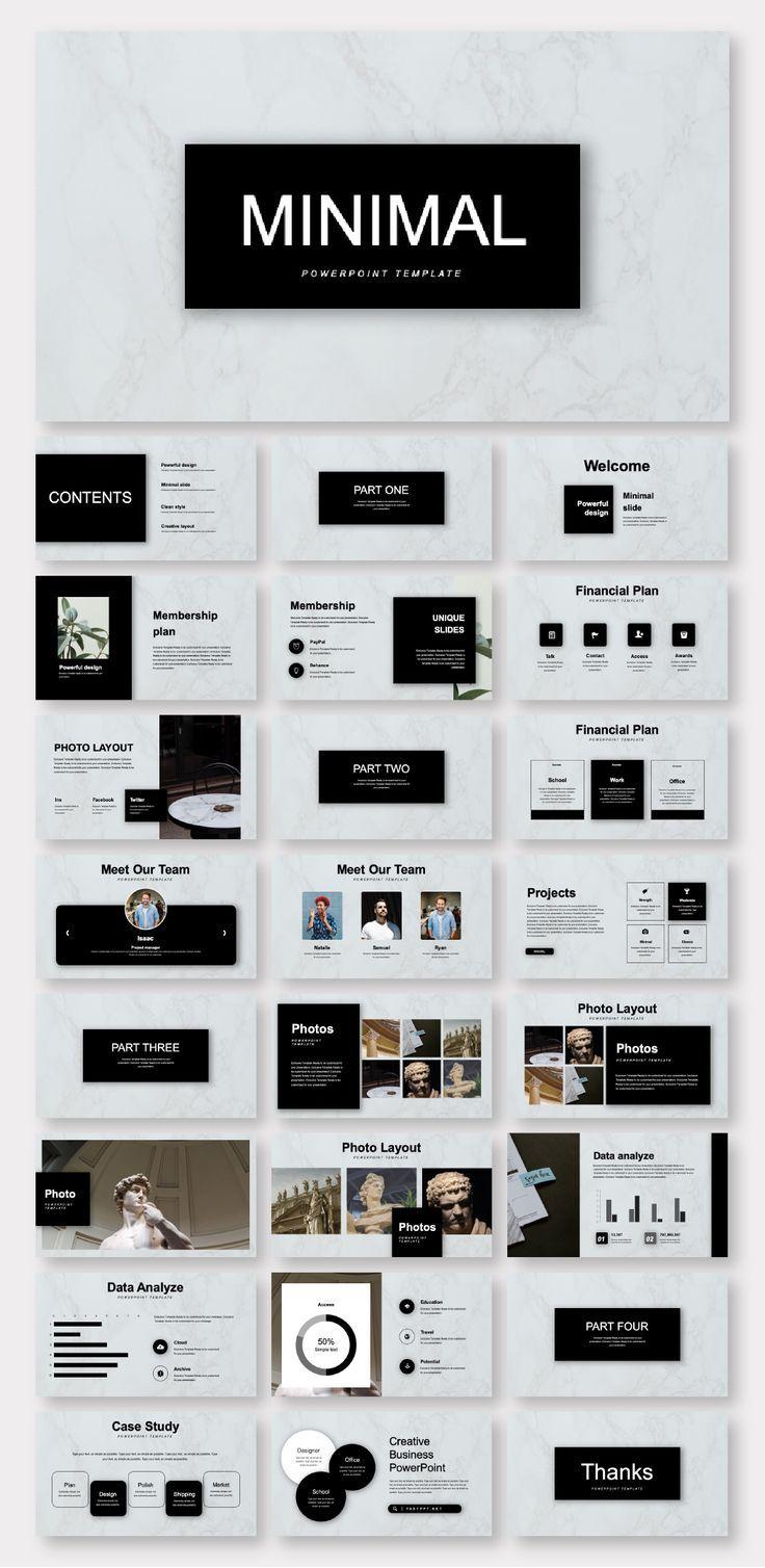 Black Marble Minimalist Business Plan Presentation Template