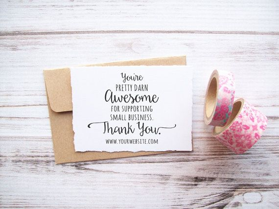 25  best images about thank you card business on Pinterest | Gold ...