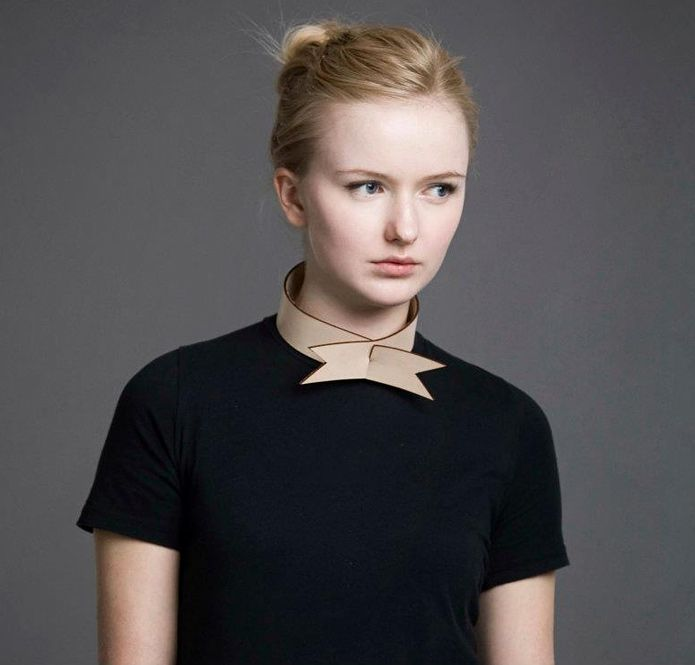 STAKA 2012 is a collection of unisex leather neck wear, cut and moulded into unique pieces.