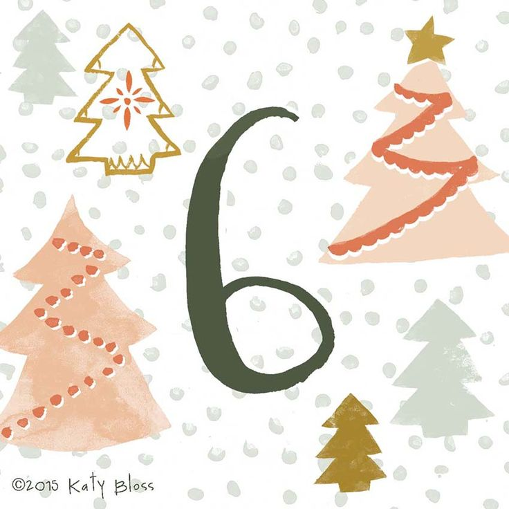 Katy Bloss Illustrated Advent Calendar Day 6