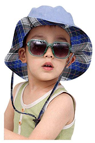 dcba3f8fc1c Fakeface Baby Kids Boys Girls Reversible Sun Protection Bucket Cap Hat With  Adjustable Chin Strap Wide Brim Folding Floppy Packable Sunhat Beach Visor  UPF ...