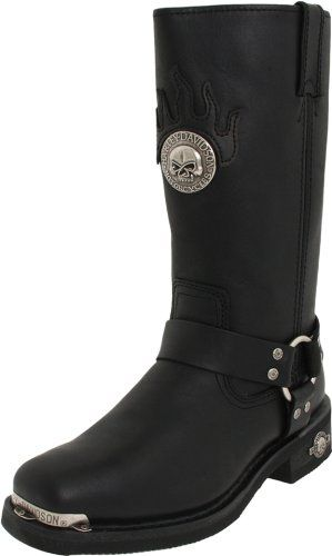 Harley-Davidson Men's Delinquent Harness Boot,Black,10.5 M - http://authenticboots.com/harley-davidson-mens-delinquent-harness-bootblack10-5-m/