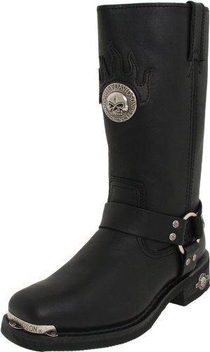 Harley-Davidson Men's Delinquent Harness Boot,Black,10.5 M - http://authenticboots.com/harley-davidson-mens-delinquent-harness-bootblack10-5-m/