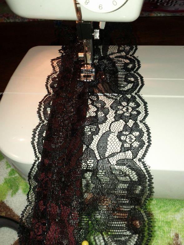 Star Wars Garter :  wedding black black and red garter diy lace garter reception red star wars IMG 20110908 171719