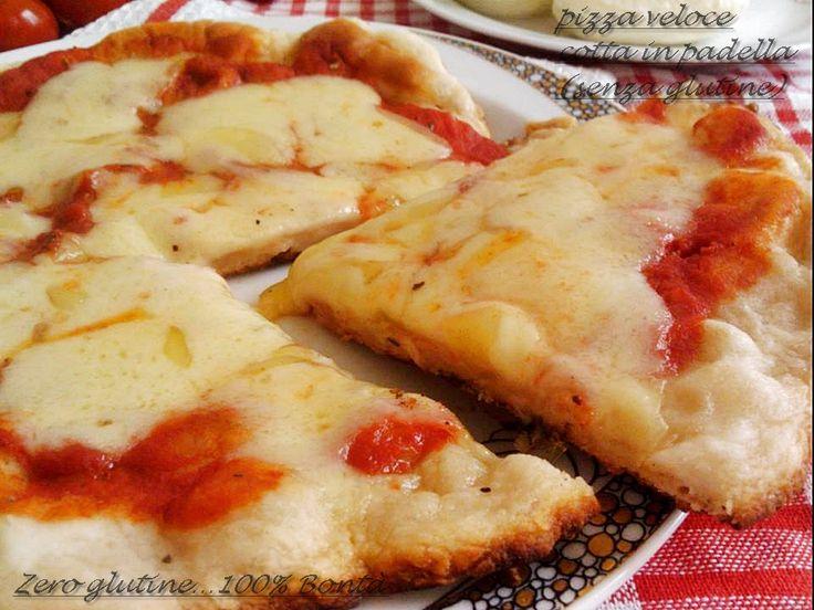 Pizza cotta in padella (veloce e senza glutine), da provare subitissimo…La ricetta è la stessa delle Focaccine cotte in padella ,versione pizza margherita…perfetta per quando si ha voglia di pizza ma non si vuole accendere il forno. La ricetta completa con gl'ingredienti …