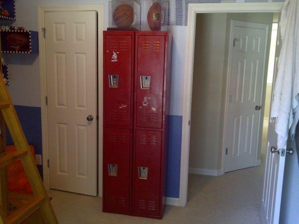 Comsports Locker For Kids Room : Gym Lockers for sports or kids room  Kids rooms  Pinterest