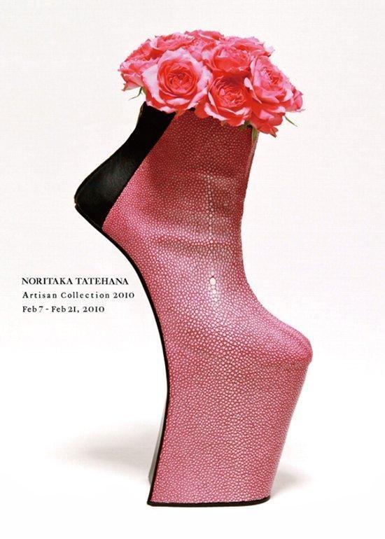 Japanese shoe maker, NORITAKA TATEHANA, is famous for Lady Gaga's shoes.