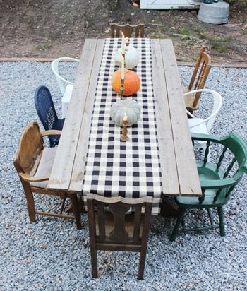 I could get on board with this - build a table and refuse to buy any chair for more than $5 to with said table.