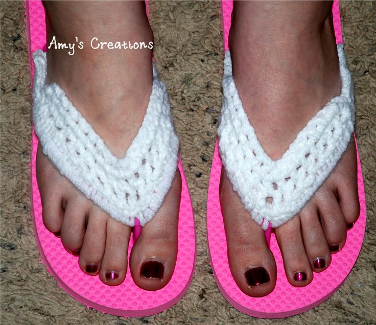Crochet Flip Flop Cover Http Crochetjewel Com P 14434