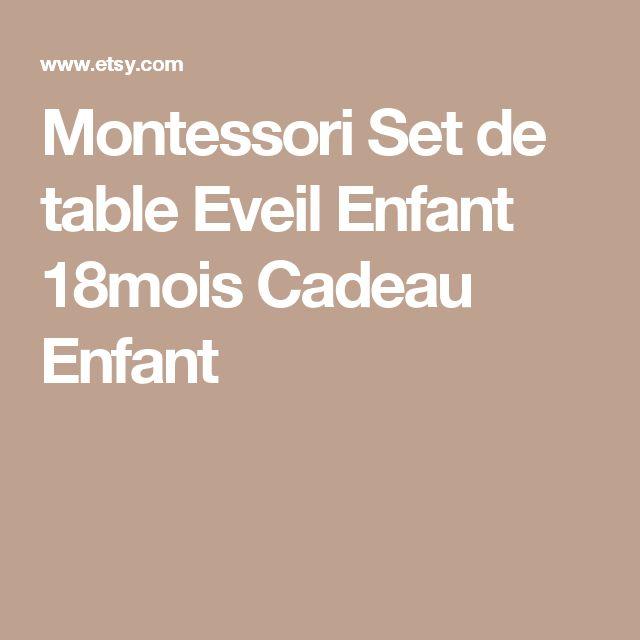 Montessori Set de table Eveil Enfant 18mois Cadeau Enfant