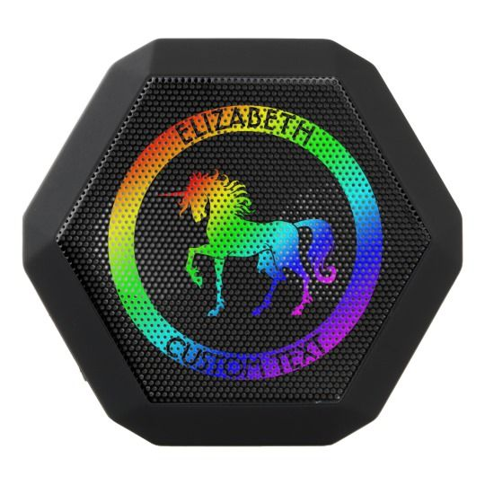 Wireless Bluetooth Speakers with Rainbow Unicorn Drawing, Electronics Products. #wireless #speakers #electronics #products
